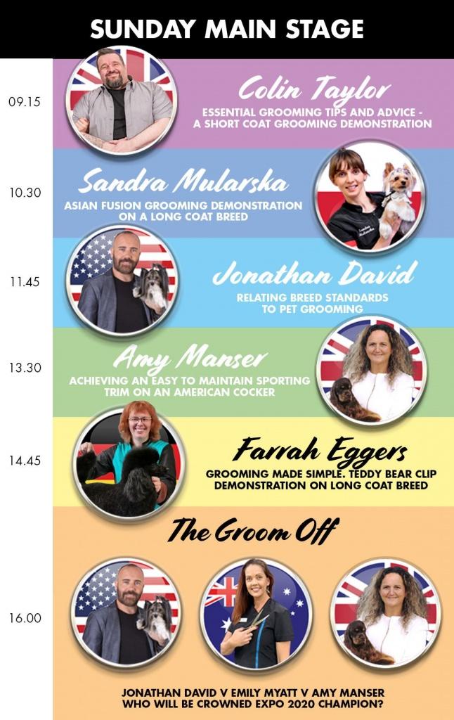 Sunday Main Stage Schedule